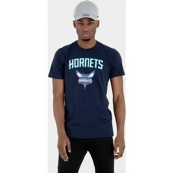 Maglietta maniche corte blu marino di Charlotte Hornets NBA di New Era