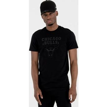Maglietta maniche corte nera di Chicago Bulls NBA di New Era