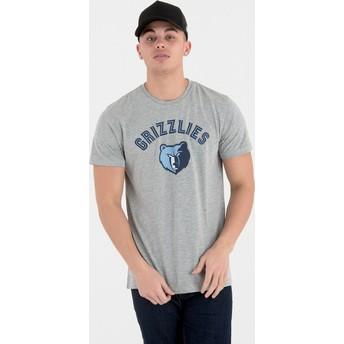 Maglietta maniche corte grigia di Memphis Grizzlies NBA di New Era