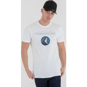 Maglietta maniche corte bianca di Minnesota Timberwolves NBA di New Era
