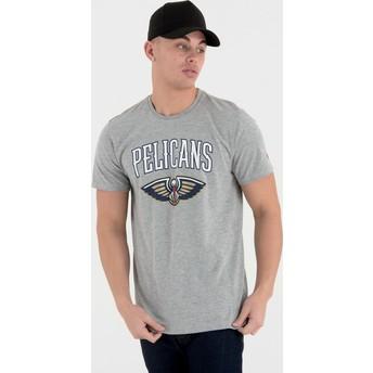 Maglietta maniche corte grigia di New Orleans Pelicans NBA di New Era