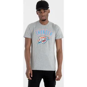 Maglietta maniche corte grigia di Oklahoma City Thunder NBA di New Era