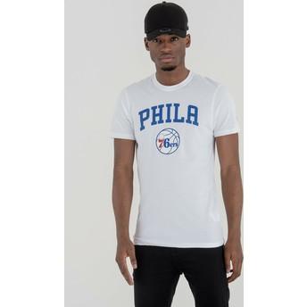 Maglietta maniche corte bianca di Philadelphia 76ers NBA di New Era
