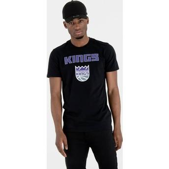 Maglietta maniche corte nera di Sacramento Kings NBA di New Era