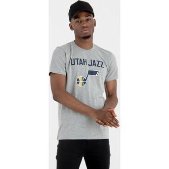 Maglietta maniche corte grigia di Utah Jazz NBA di New Era