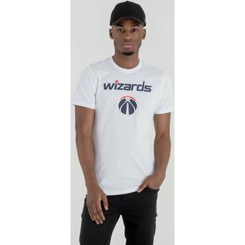 Maglietta maniche corte bianca di Washington Wizards NBA di New Era