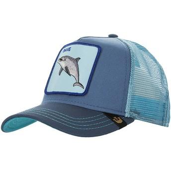 Cappellino trucker blu delfino Save Us di Goorin Bros.