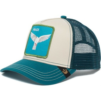 Cappellino trucker blu e bianco colomba Peace Keeper di Goorin Bros.