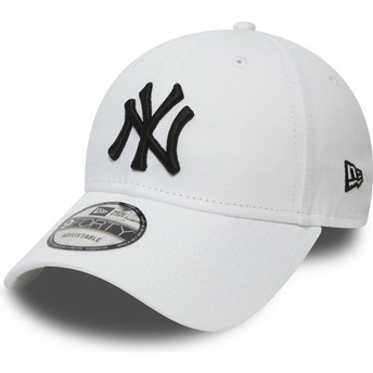 Cappellino visiera curva bianco regolabile 9FORTY Essential di New York Yankees MLB di New Era
