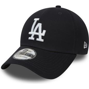 Cappellino visiera curva blu marino aderente 39THIRTY Classic di Los Angeles Dodgers MLB di New Era