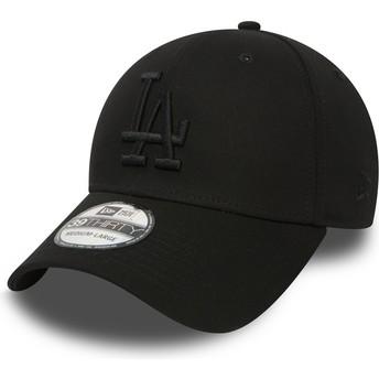 Cappellino visiera curva nero aderente 39THIRTY Essential di Los Angeles Dodgers MLB di New Era