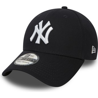 Cappellino visiera curva blu marino aderente 39THIRTY Classic di New York Yankees MLB di New Era
