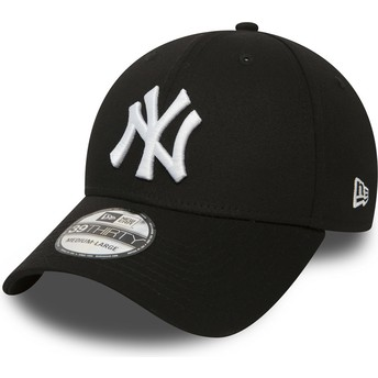 Cappellino visiera curva nero aderente 39THIRTY Classic di New York Yankees MLB di New Era
