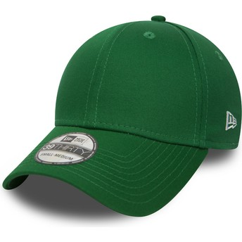 Cappellino visiera curva verde aderente 39THIRTY Basic Flag di New Era