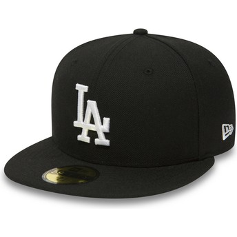 Cappellino visiera piatta nero aderente 59FIFTY Essential di Los Angeles Dodgers MLB di New Era