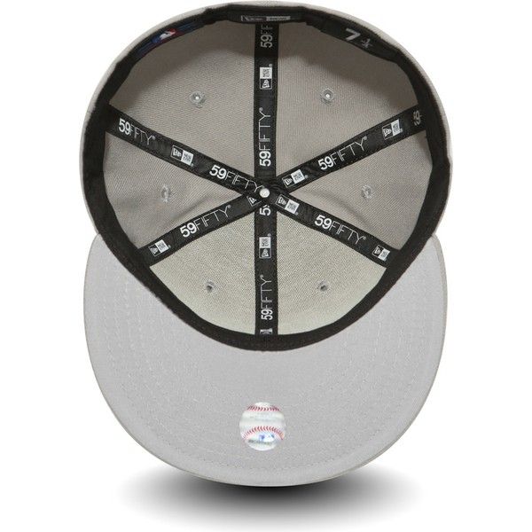 cappellino-visiera-piatta-grigio-aderente-59fifty-essential-di-los-angeles-dodgers-mlb-di-new-era