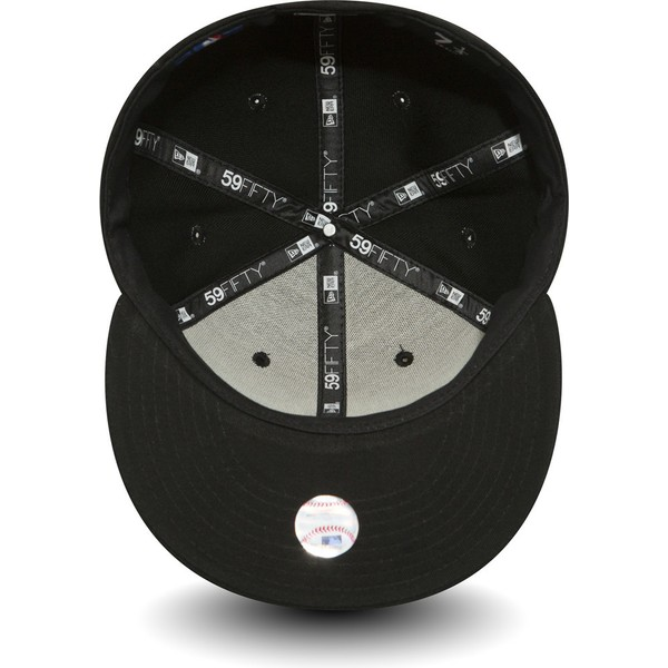 cappellino-visiera-piatta-nero-aderente-59fifty-essential-di-new-york-yankees-mlb-di-new-era
