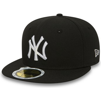 Cappellino visiera piatta nero aderente per bambino 59FIFTY Essential di New York Yankees MLB di New Era