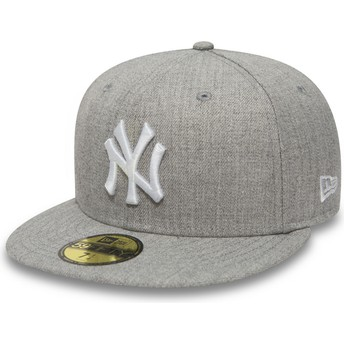 Cappellino visiera piatta grigio aderente 59FIFTY Essential di New York Yankees MLB di New Era