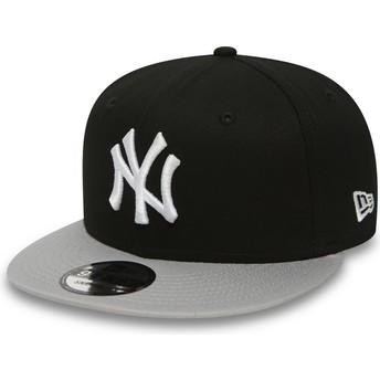 Cappellino visiera piatta nero regolabile 9FIFTY Cotton Block di New York Yankees MLB di New Era
