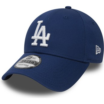 Cappellino visiera curva blu regolabile 9FORTY Essential di Los Angeles Dodgers MLB di New Era