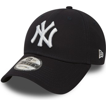 Cappellino visiera curva blu marino regolabile 9FORTY Essential di New York Yankees MLB di New Era