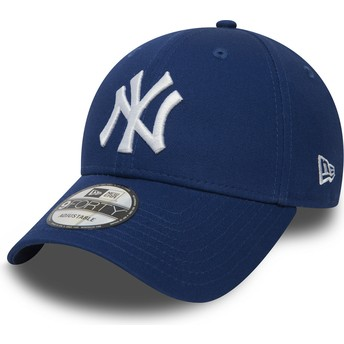 Cappellino visiera curva blu regolabile 9FORTY Essential di New York Yankees MLB di New Era