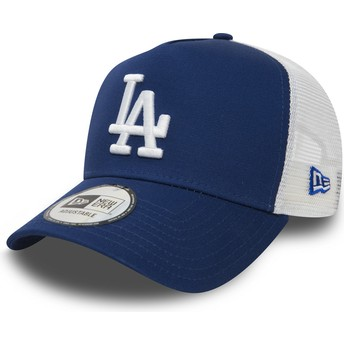Cappellino trucker blu Clean A Frame di Los Angeles Dodgers MLB di New Era