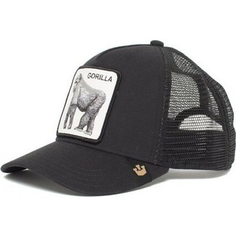 Cappellino trucker nero gorilla King of the Jungle di Goorin Bros.