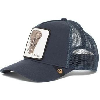 Cappellino trucker blu marino elefante Elephant di Goorin Bros.