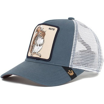 Cappellino trucker blu per bambino scoiattolo Silly Kids di Goorin Bros.
