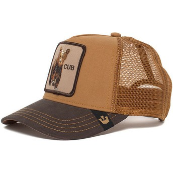 Cappellino trucker marrone per bambino orsetto Baby Cub di Goorin Bros.