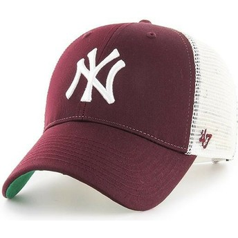 Cappellino trucker bordeaux di New York Yankees MLB MVP Branson di 47 Brand