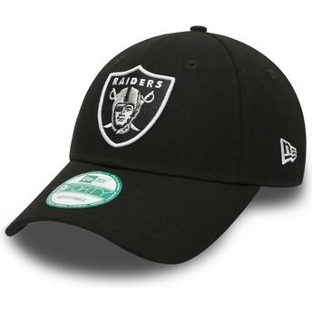 Cappellino visiera curva nero regolabile 9FORTY The League di Las Vegas Raiders NFL di New Era