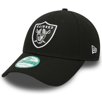 Cappellino visiera curva nero regolabile 9FORTY The League di Oakland Raiders NFL di New Era