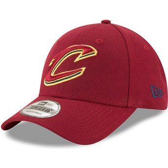 Cappellino visiera curva rosso regolabile 9FORTY The League di Cleveland Cavaliers NBA di New Era