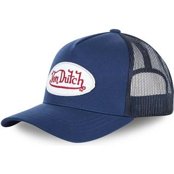 Cappellino visiera curva blu regolabile BMMARI di Von Dutch