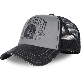 Cappellino visiera curva grigio e nero regolabile CREW1 di Von Dutch