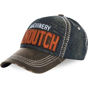 Cappellino visiera curva blu effetto denim regolabile DONALD01 di Von Dutch