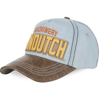 Cappellino visiera curva blu chiaro regolabile DONALD04 di Von Dutch