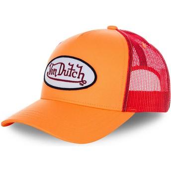 Cappellino trucker arancione e rosso FRESH03 di Von Dutch