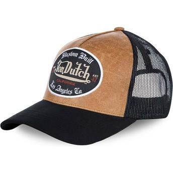 Cappellino trucker marrone e nero GRL di Von Dutch