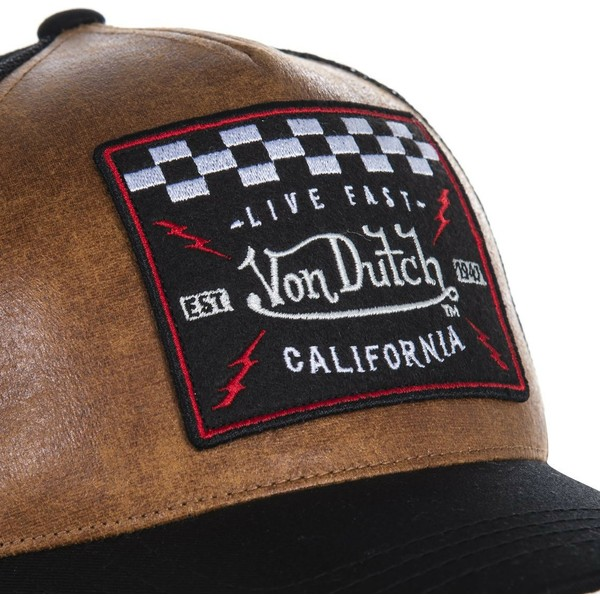cappellino-trucker-marrone-e-nero-grl2-di-von-dutch