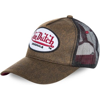 Cappellino trucker marrone OG di Von Dutch