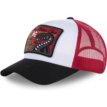 Cappellino trucker bianco, rosso e nero SNAKE di Von Dutch