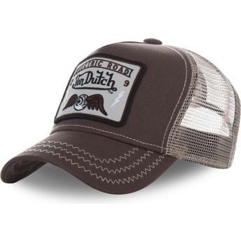 Cappellino trucker marrone SQUARE2B di Von Dutch