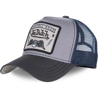 Cappellino trucker grigio e blu SQUARE3B di Von Dutch