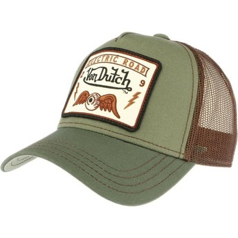 Cappellino trucker verde SQUARE6 di Von Dutch