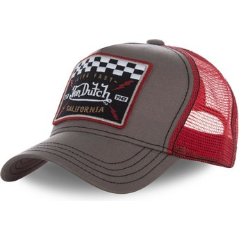 Cappellino trucker marrone e rosso SQUARE17 di Von Dutch