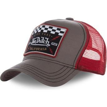 Cappellino trucker marrone e rosso SQUARE17 di Von Dutch